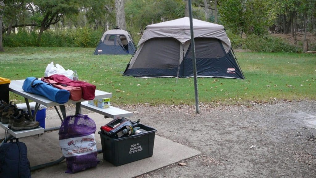 coleman 8 man tent